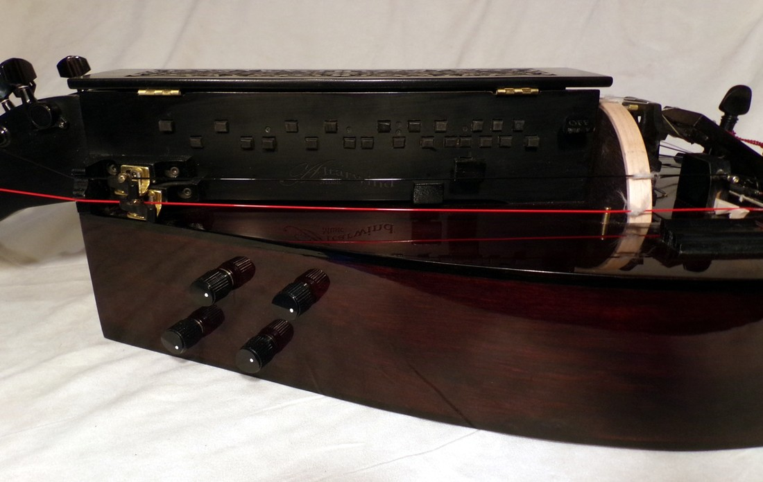 Brown and Black Hurdy Gurdy