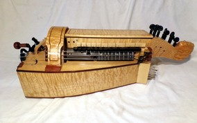 Amber Honey Colored Hurdy Gurdy